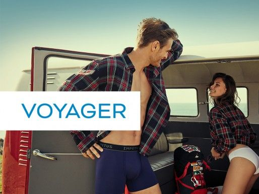 VOYAGER, Viva a suas suas viagens com menos underwear na bagagem e de forma mais ecológica